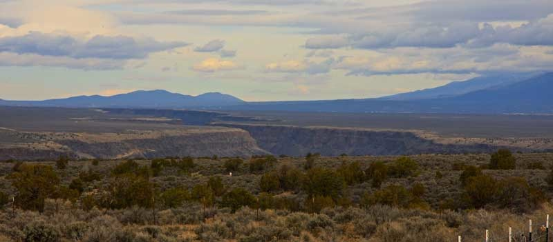 Looking north up the Rio Grande Gorge with its many side canyons