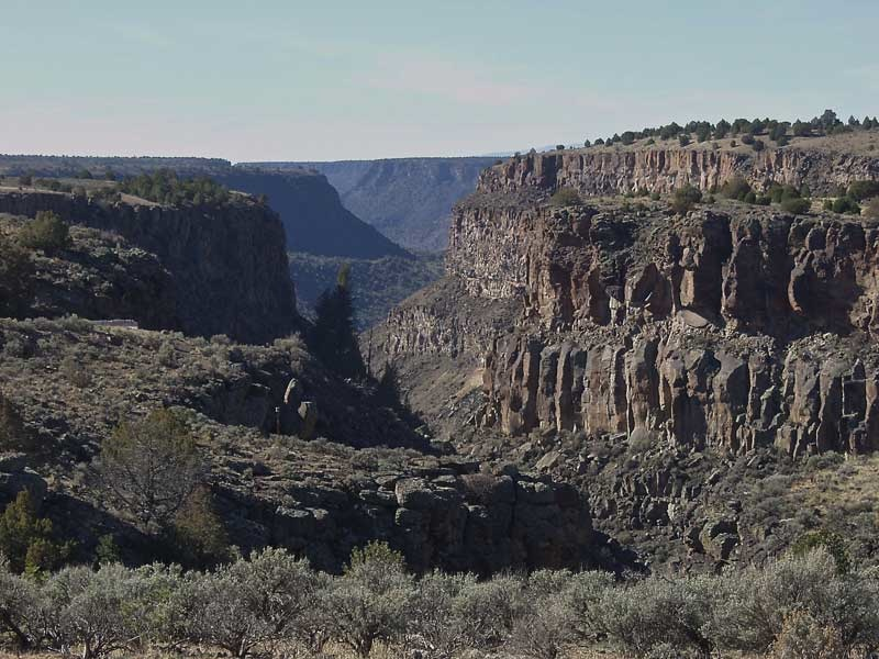 Looking south down the Rio Pueblo de Taos Canyon