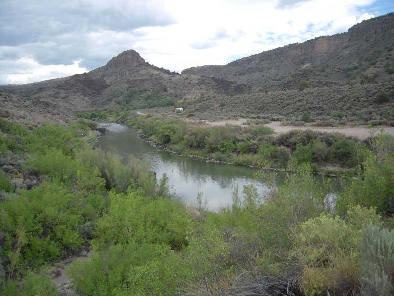 Looking north toward the confluence of the Rio Grande and the Rio Pueblo de Taos