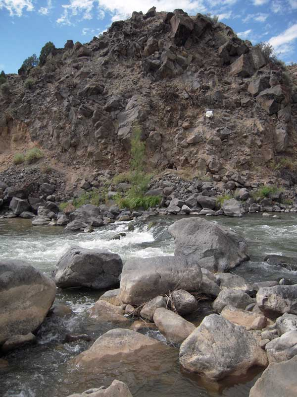 The confluence of the Rio Grande and the Rio Pueblo de Taos